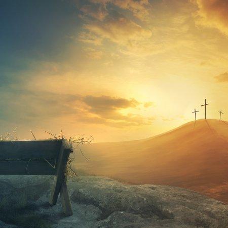 manger and crosses